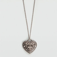 FULL TILT Puff Heart Necklace      188811140 | Jewelry | Tillys.com