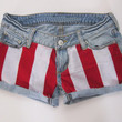 red and white studded hipster shorts by hipsterapparel on Etsy