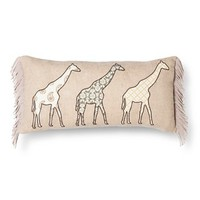 Mudhut™ Giraffe Decorative Pillow - Brown (Square) : Target