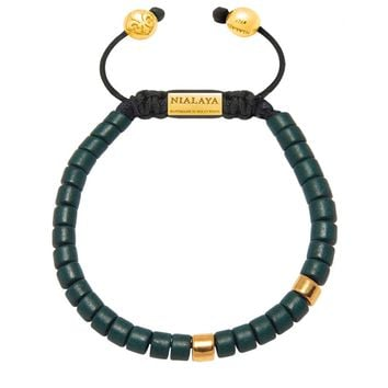 The Tulum Collection  - Dark Green Ceramic and Gold