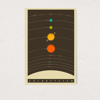 Jazzberry Blue Solar System Art Print - Urban Outfitters