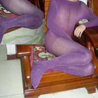 Bodyhose / Pantyhose Purple Velvet 120Denier Women Bodyhose [TOQ110720018] - $21.00