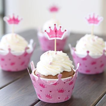 24pcs Cupcake Wrappers and Toppers