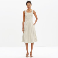 CUTOUT SUNDRESS IN STRIPE