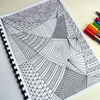Printable Coloring Page Zentangle Inspired Coloring by JoArtyJo
