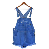 90s Deadstock Plus Size Overall 3X Clothing Women Overall Denim Overall Shorts Denim Shortall Salopette Dungarees 90s Overall Over All Bib