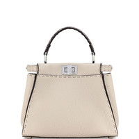 Fendi Selleria Peekaboo Mini Leather Satchel Bag, Multi