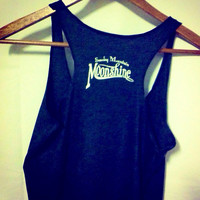 Vintage Moonshine Whiskey Smoky Mountain Moonshine Triblend Racerback Tank Top Valentine's Day Gift For Her