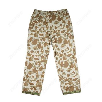 WWII US ARMY PACIFIC CAMO HBT MILITARY UTILITY REVERSIBLE PANTS TROUSERS IN SIZES - World military Store