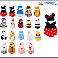 0-12M Baby Infant Toddler Animal Cartoon Character Dress Up Outfit Costume Hat
