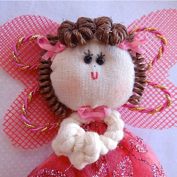 Fairy on stick ,use as Centerpiece, Cake,, Decor, Doll, Puppet, Baptism, Confirmation, Christianity, 1st communion, Christmas, Quinceanera