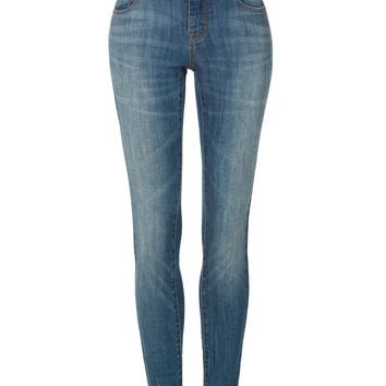 LE3NO Womens Premium High Rise Skinny Denim Jeans with Pockets