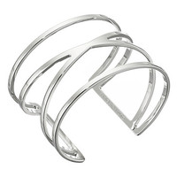 Vince Camuto Double V Cutout Cuff Bracelet Light Rhodium - Zappos.com Free Shipping BOTH Ways