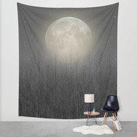 The Moon Shines Bright (Birch Moon II) Wall Tapestry by Soaring Anchor Designs