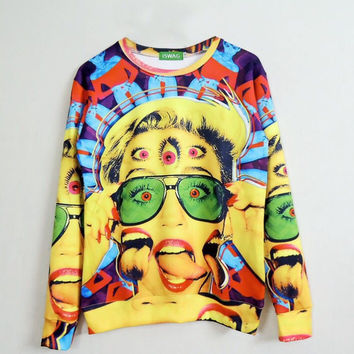 Trippy Miley Crewneck