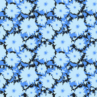 Blue Flowers Removable Wallpaper