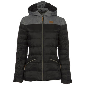 Discrete Icon Puffer Down Jacket - Women's Dark Grey/Grey,