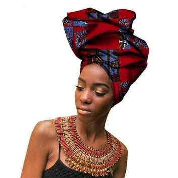 Haimeikang Fashion African Headwraps For Women Head Scarf For Lady Bandanas Cotton Women Turban Headband Headwraps Accessories