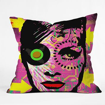 Amy Smith Pink 1 Throw Pillow