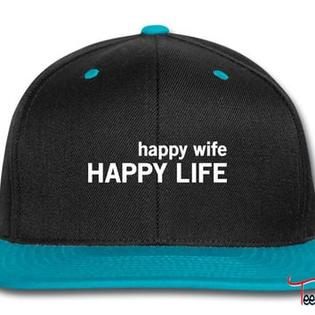 Happy Wife. Happy Life Snapback
