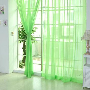 Lightweight Gauzy Valances Door Window Curtain Drape Sheer Home Wedding