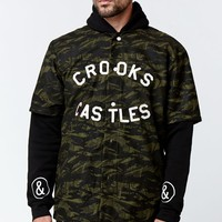 Crooks and Castles Highest Camouflage Baseball Jersey - Mens Tee - Camo