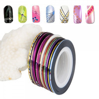 20 Colors Striping Tape Line Nail Art Sticker(Random Color)
