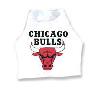 Chicago Bulls Muscle Crop Top