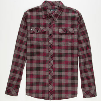 Akrux Shift Mens Flannel Shirt Burgundy  In Sizes