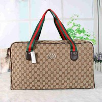 DCCK Gucci Women Fashion Luggage bag Leather Shoulder Bag Satchel Handbag