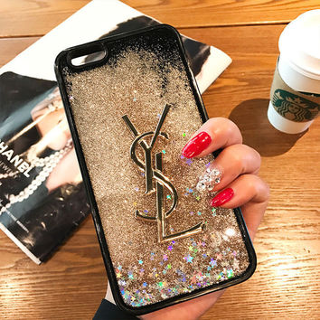 YSL Fashion Luxury Supreme Sliver Mirror Case For iPhone 7 7Plus 6 6s 6Plus 6s Plus