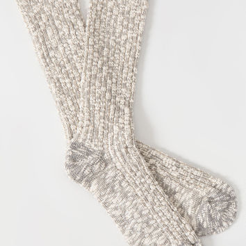 Basic Slub Sock Heather Grey