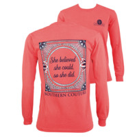 Southern Couture She Believed She Could Comfort Colors Long Sleeve T-Shirt