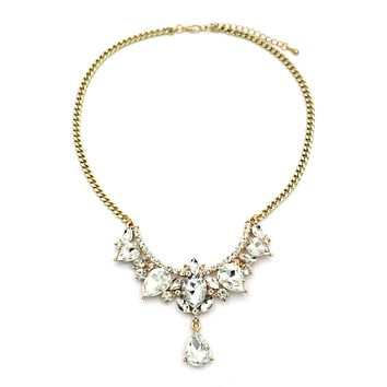 luxury pendant white crystal necklace