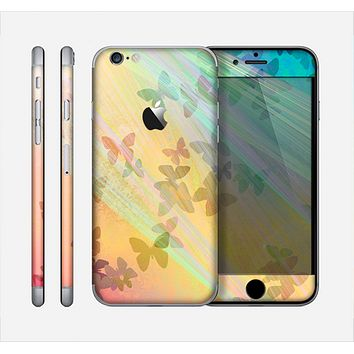 The Abstract Color Butterfly Shadows Skin for the Apple iPhone 6