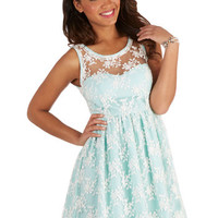 ModCloth Pastel Mid-length Tank top (2 thick straps) A-line Lily of the Valley Dress in Mint
