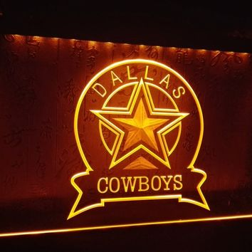 LD239- Dallas Cowboys Sport Bar LED Neon Light Sign