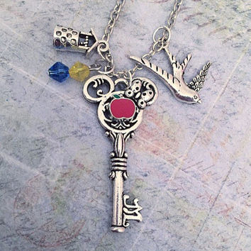 Fairest Of Them All Key Necklace - Fairytale Jewelry - Once Upon A Time Jewelry - Princess Jewelry - Fairest Of Them All Jewelry