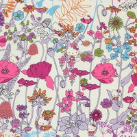 Liberty X Hello Kitty Limited - Wild Garden - Tana Lawn - Purple