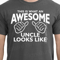 Awesome Uncle tshirt This is What An Awesome Uncle Looks Like T shirt gift for uncle shirt mens tshirt new Baby Christmas uncle to be