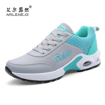 2018 Hot Sale Woman Sneakers Outdoor Tennis Shoes for Women Adults Breathable Air Cushion Fitness Trainers Sports Jogging Cheap
