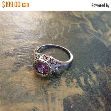 SUMMER END SALE Alexandrite Size 7 Ring Color Changing  Gemstone. 925 Sterling  Silver  Etsy Gift Sale