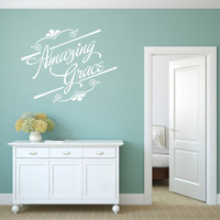 Spiritual Wall Decal. Amazing Grace - CODE 138