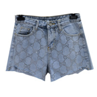 GUCCI Summer Fashion New Diamond More Letter Leisure Shorts Women