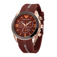 Armani The high quality fashion popular men watch with three adjustment button L-PS-XSDZBSH Brown