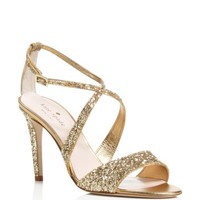 kate spade new york Felicity Glitter Crisscross High Heel Sandals | Bloomingdales's