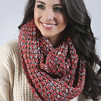 pop of color knit scarf