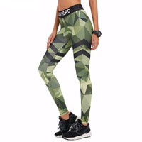 Camo Green Yoga Pants
