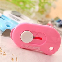 2Pcs/lot Mini Portable Small Box Cutters Package Carton Opened Out of The Box A Letter Opener Office Paper Knife