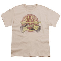 Sun Records Crossed Guitars Cream Youth T-Shirt